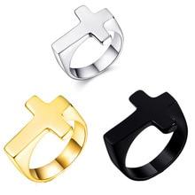 sagittarius brass steel stoving varnish cufflinks for men black silvery pair Titanium Steel Cross Rings For Men Women Fine Polishing Gold Silvery Black Ring Gift Hand Jewelry Accessory 2020 dropshipping