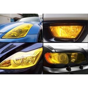 "Image 5 - 30cmx1m 12""x40"" Auto Car Light Headlight Taillight Tint Vinyl Film Sticker Easy Stick Motorcycle Whole Car Decoration 12 Colors"
