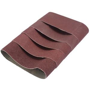 Image 3 - Bandas de lijado abrasivas, 5 uds., 75x457mm, lijadora, eléctricas Herramientas abrasivas 60/80/100/120/240