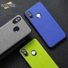 KISSCASE Retro Fabric Leather Case For Xiaomi Redmi 6 6A Note 5 Pro Cloth Cases Mi 8 A1 A2 lite Max 3 Pocophone F1