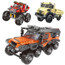 500+pcs Car Series All Terrain Vehicle Set Building Blocks Model Bricks Toys For Kids Educational Gifts Compatible Legoing(China)