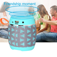 Portable Bluetooth Mini Speaker Wireless Subwoofer Speaker Stereo Sound Box Cloth Cover Fabric Tablet Speakers цена