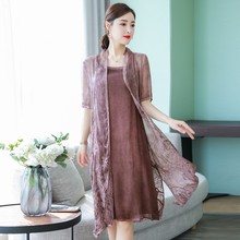 Woman Dresses 2019 Spring Summer Women Half Sleeve O Neck Party Wear Casual A-line Embroidery Dress Plus Size S-3XL