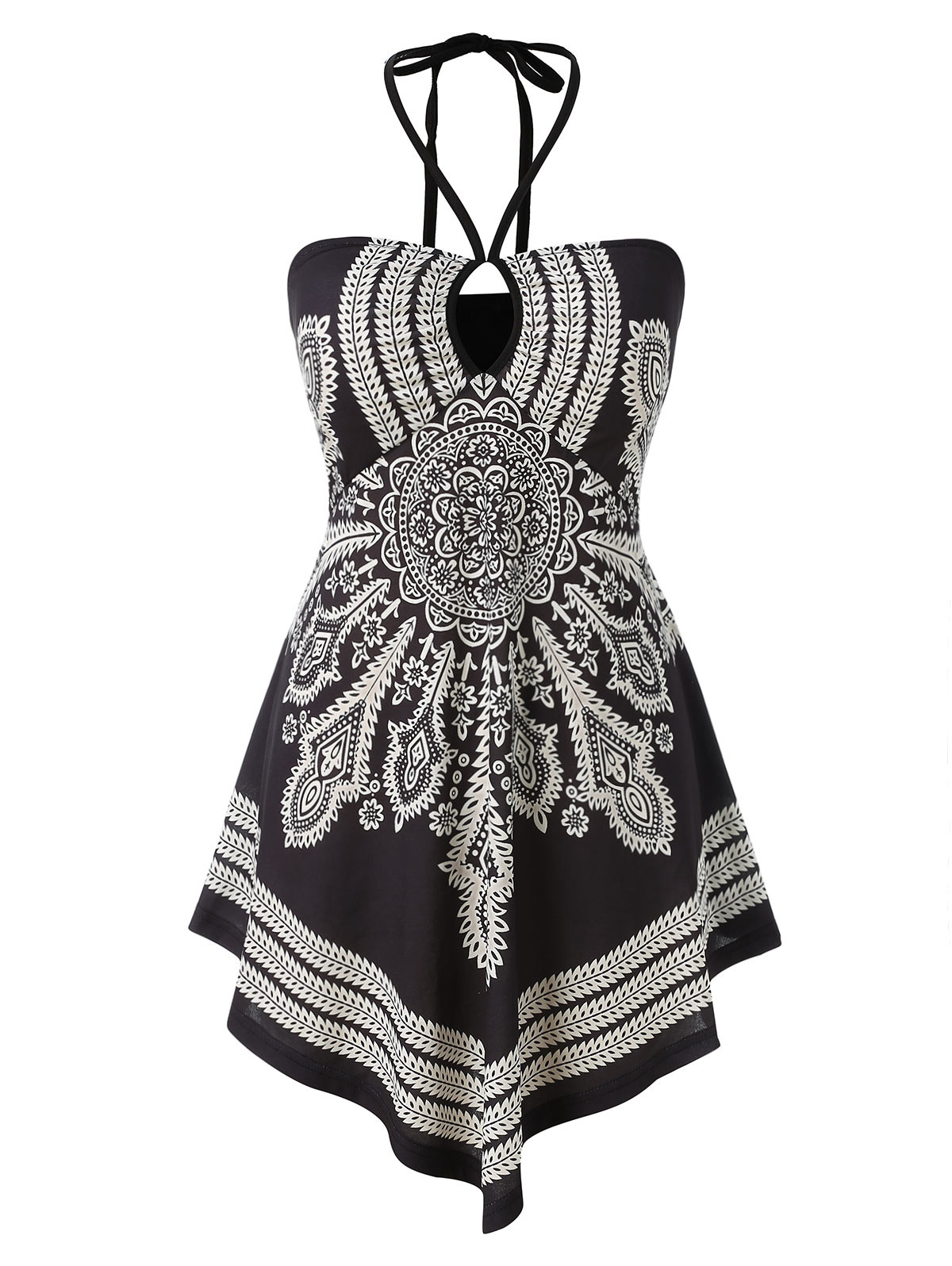 17a9f81e923 Wipalo Plus Size Open Back Printed Camis Sleeveless Halter Neck Vintage  Boho Camis Aesthetic Gothic Tops