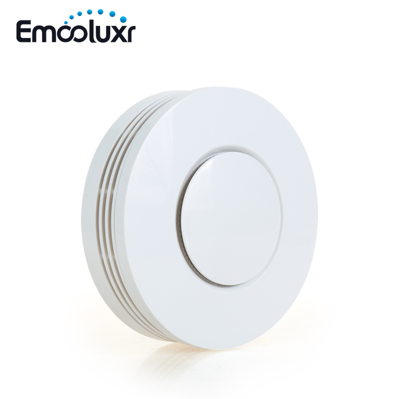 50pcs Battery Operat Smoke Detector Fire Alarm Sensor With English Voice Prompt And Test Button, Work Alone Or With Focus Alarm