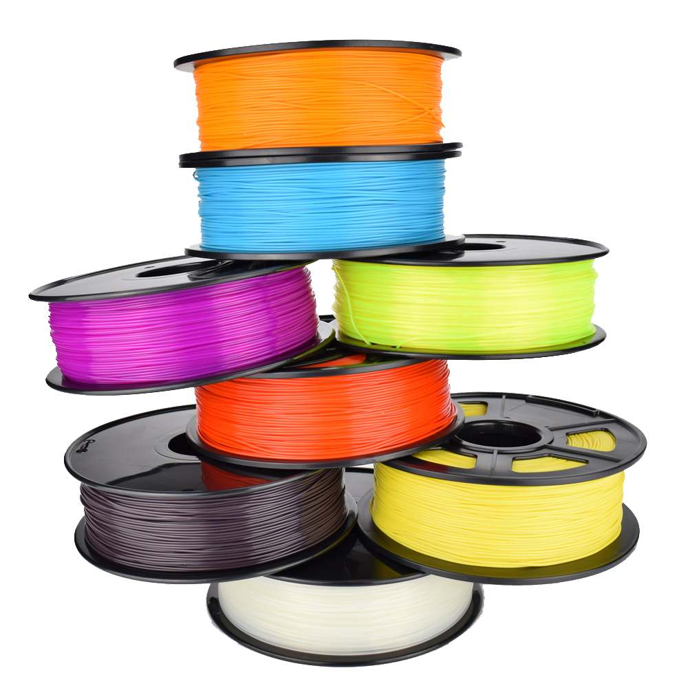 Matériel d'impression PLA Filament 1.75mm Plastique 3D Imprimante 1 kg/Rouleau 9 Couleurs En Option En Caoutchouc Consommables