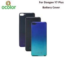 Doogee y7 플러스 배터리 케이스 6.18 에 대한 ocolor doogee y7 플러스 전화 커버에 대한 하드 bateria 보호 후면 커버 교체