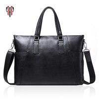 TIANHOO мужские сумки из натуральной кожи коровья кожа портфель 14 дюймов ноутбук сумка для мужчин Мужская Ручная посылка для работы сумки