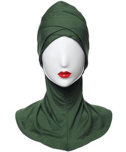 Image 2 - Ramadan Hijab Niqabs Underscarf หมวกด้านในหมวกอิสลามมุสลิม Cross Bone Bonnet ฝาครอบหมวกสวดมนต์หมวกนินจาแฟชั่น