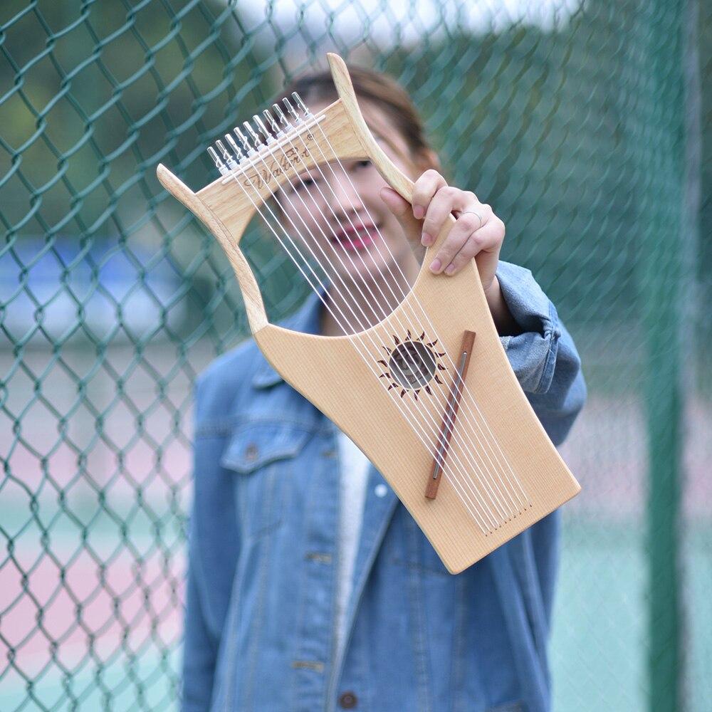 10 String деревянный Лира Арфы нейлоновые струны ель topboard буковая древесина щита строка инструмента с сумкой для переноски