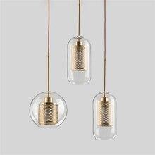 Nordic Led Glass Pendant Lights Hanging Lamp Living Room Loft Industrial Decor Kitchen Fixture Suspension Luminaire