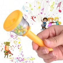Эко-дружественных красочный Пластик звонок колокольчика раннее музыкальное воспитание игрушка для малышовая детская ночная рубашка для детей