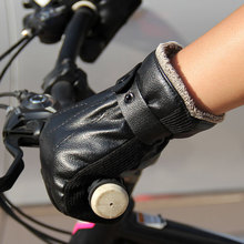 Winter Inner cotton Man PU Warm Cycling Voluntarily Motorcycle Electric Vehicle Glove Stall With Hot Sales