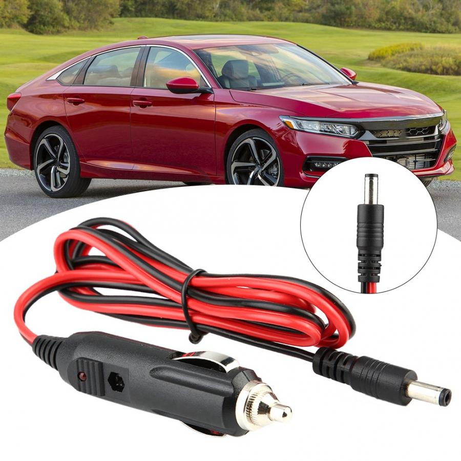 12/24V Universal Car Charger Cigarette Lighter Power Plug Cord Adapter Cable car professional accessories Black