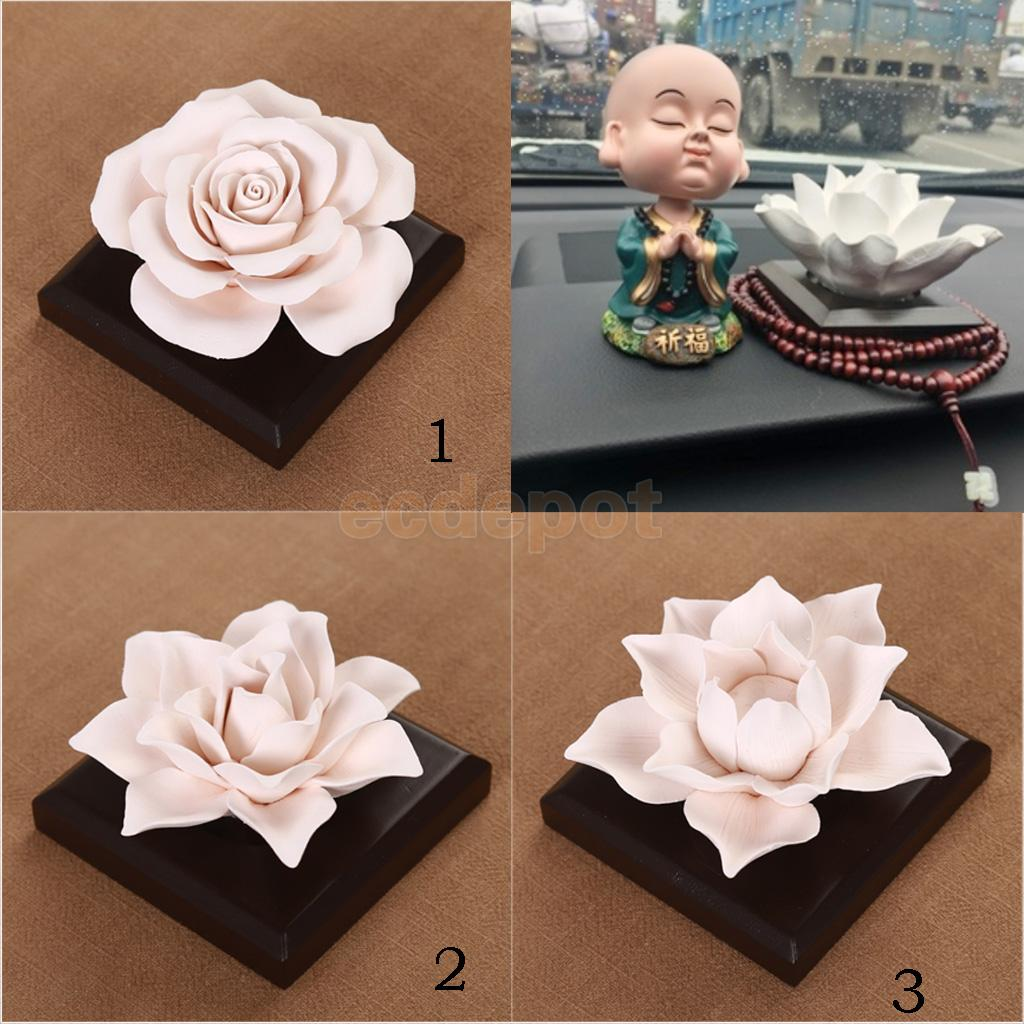 Ceramic Rose Floral Essential Oil Scent Diffuser Air Freshener Home Fragrance Scents Accessories