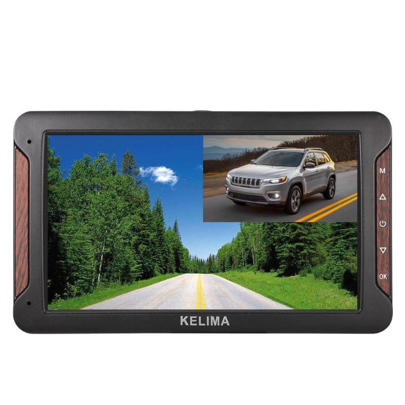 KELIMA HP-988T 7 pouces voiture DVR caméra double lentille Vision nocturne