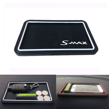 For Ford Smax Carbon Fiber Style Car Non-Slip Mat Mobile Phone Car Decoration For Key Coins Car Accessories