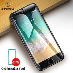 Image 2 - Защита экрана SmartDevil для iphone X Xs Max Xr 2.5D изогнутое закаленное стекло для iphone 6 6s Plus 7 Plus 8Plus защита экрана