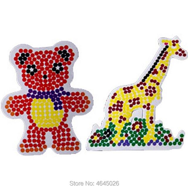 10pcs DIY EVA Pegboard Perle Hama 5mm Ironing Beads Jigsaw Tool Peg Boards Puzzle Girls Gift Kids Educational toys for Children