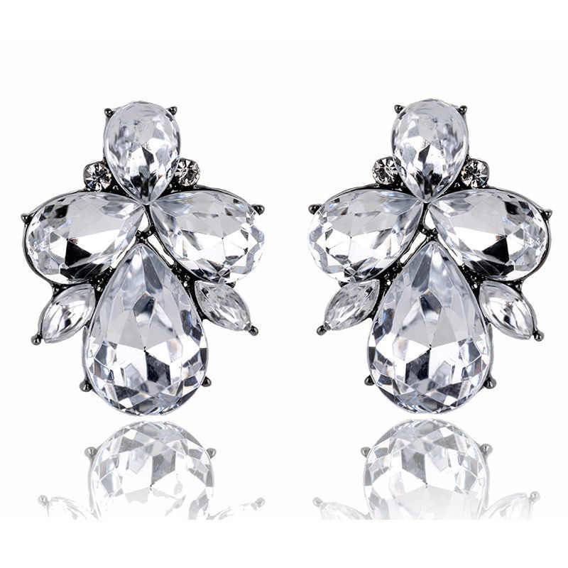 De aleación de celebración de boda nuevo estilo Cristal de resina con descuento pendientes de joyería de moda Popular de gota de agua libre de alergia