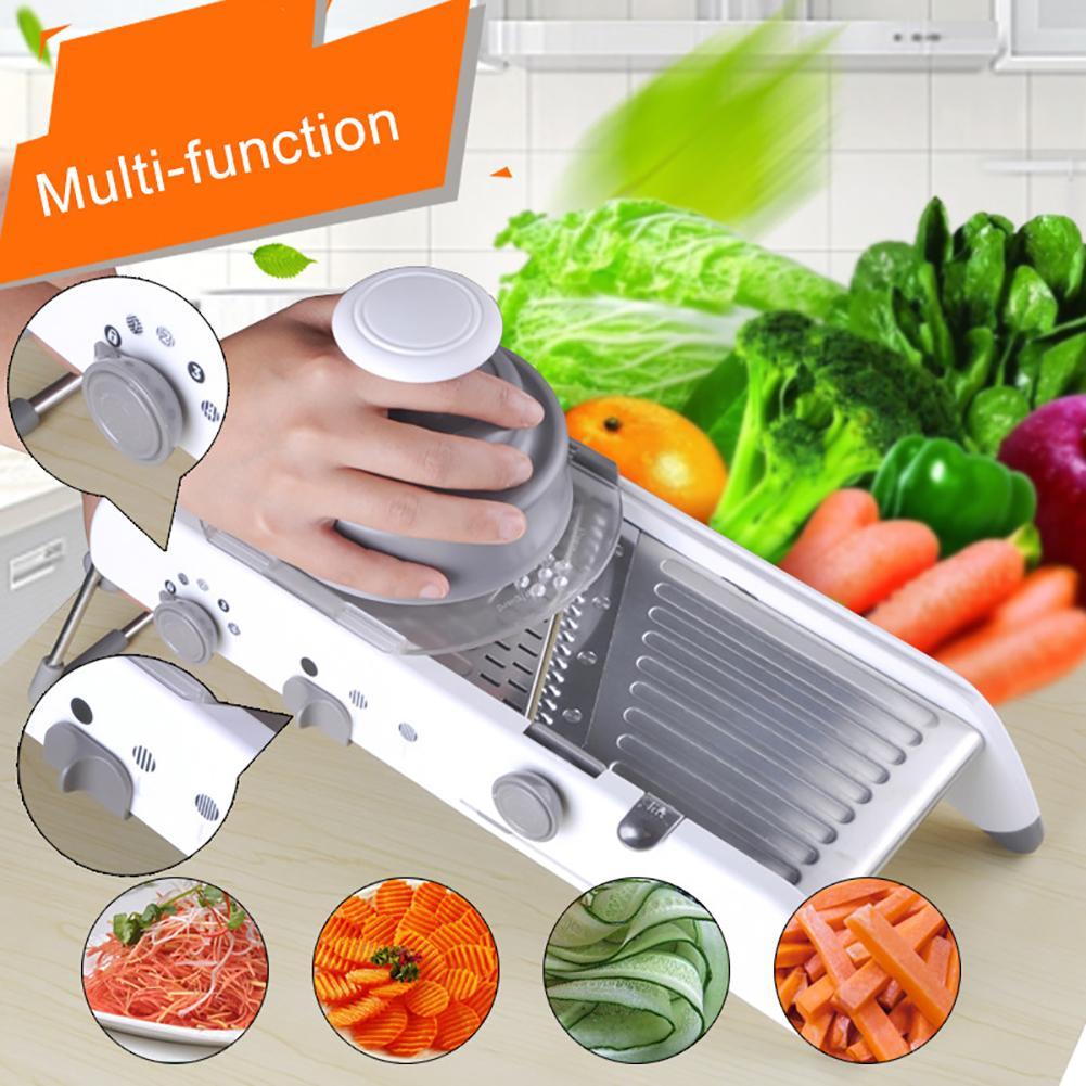 Outil de cuisine réglable en acier inoxydable coupe-légumes hachoir alimentaire trancheuse fruits légumes outils cuisine Gadgets