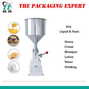 Manual Paste Filling Machine Liquid Cream Shampoo Lotion Bottle Vial Filler Sauce Jam Nial Polish 50ml Water Fill Free Shipping