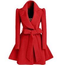 Корейская женская шерстяная ветровка пальто куртка пальто красный XL осень и зима длинная ветровка пальто модное пальто куртка