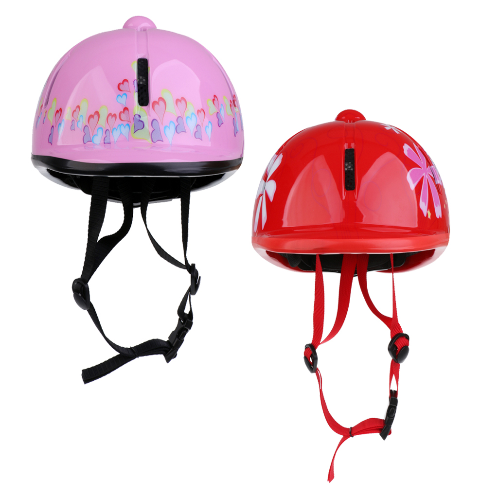 2Pcs Horse Childrens Kids Ventilated Adjustable Horse Riding Equetrian Helmets