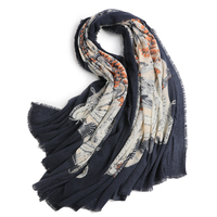Stylish Wild Wool Ladies Wool Scarf Shawl Printed New Arrival Solid Plain Woven Long Scarves Wraps 100% Pure Wool Wraps