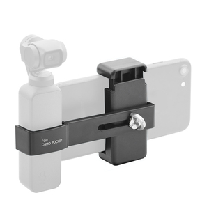 Image 5 - Cell Phone Mount Clamp Clip Securing Holder for DJI OSMO Pocket Handheld Gimbal Stabilizer Adapter Smartphone Support Accessory