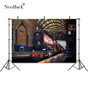 Image 2 - NeoBack vinyle poudlard Express Train bébé enfants enfants personnalisé bannière photographie arrière plan professionnel Studio Photo toile de fond