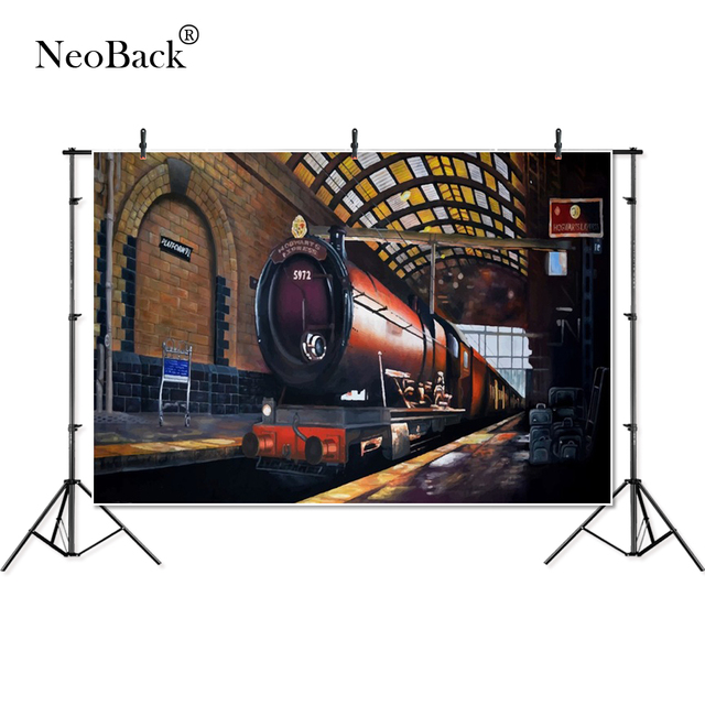Thin Vinyl Hogwarts Express Train baby children kids custom Banner Photography Background professional studio Photo Backdrop