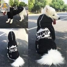 Одежда для больших собак из лабрадора, зимняя черная модная куртка с буквенным принтом для собак, пальто, крутая одежда для больших собак, abrigos perro