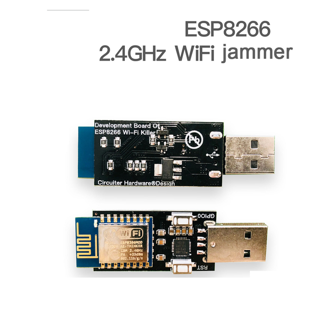 DYKB ESP8266 WiFi KILLER ، جهاز تشويش شبكة لاسلكية ، لوحة تطوير CP2102 ، إيقاف التشغيل التلقائي ، 4 وحدة Pflash ESP12