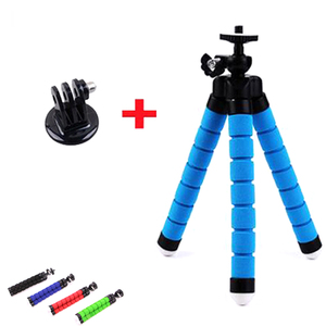 Go Pro Flexible Leg Mini Tripod for Go pro Digital phone and adapter mount for Gopro hero 4 3 + HD xiaomi yi cameras VP414 stand(China)