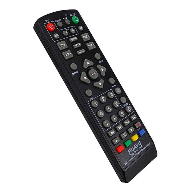 FULL HUAYUユニバーサルテレビのリモコンコントローラDvb T2 リモートRm D1155 土衛星テレビ受信機