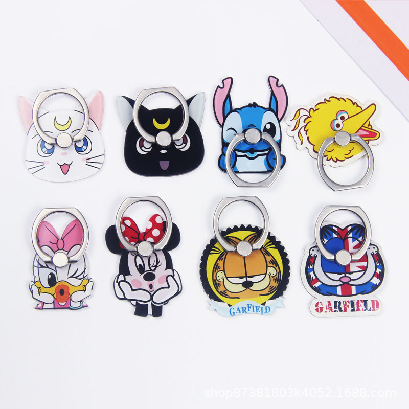 5PCS/Lot Wholesale Universal Finger Ring Mobile Phone Ring Holder Stand Stitch Garfield Minnie Daisy For