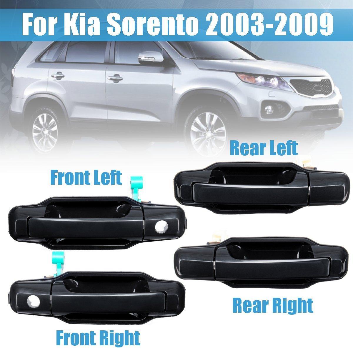 Gloss Black Front Right Exterior Door Handle #82660-3E010 For Kia Sorento 03-09