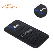 купить Carbon fiber Car Sunshade Storage Bag car Sun visor SHELBY logo car styling For Ford Focus 2 3 F150 GT350 GT500 Auto accessories дешево