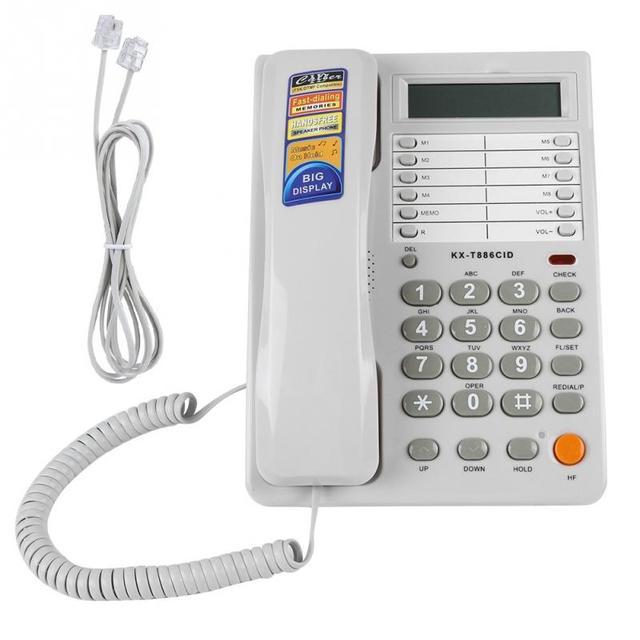 固定電話有線電話デジタル液晶画面発信者 Id 表示ホームオフィス固定電話 dtmf/FSK デュアルシステム