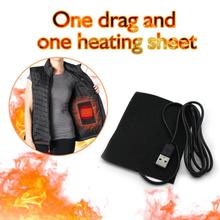 Electric Heating Pads 5V Thermal Clothes Warmer Heated Jacket Mobile Warming Gea