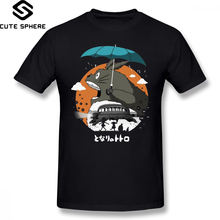 Totoro T Shirt My Neighbor T-Shirt Printed Male Tee Cotton Short Sleeves Awesome 6xl Casual Tshirt