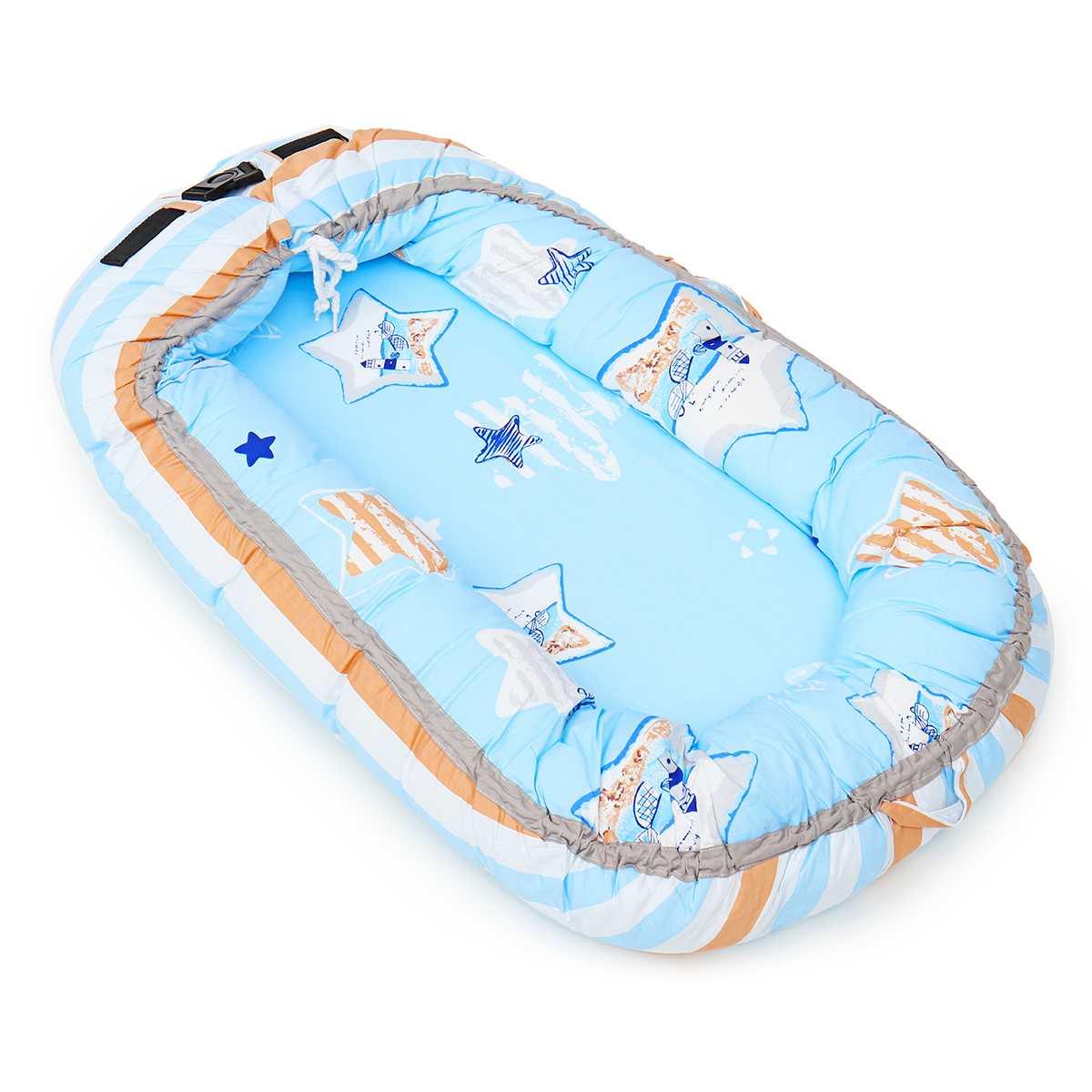 Enfants bébé nid lit berceau lit de voyage lit pour enfants infantile nouveau-né coton berceau portable amovible lavable 80x50 cm