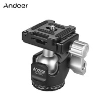 Mini Ballhead Gravity Camera DSLR Andoer Aluminum-Alloy of for Canon Nikon Sony ILDC