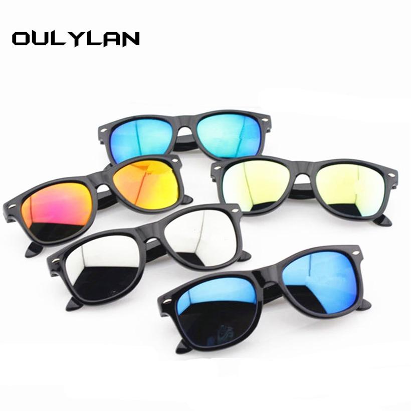 Oulylan Revestimento de Óculos De Sol Das Mulheres Dos Homens Do Vintage  Condução Espelhos Pontos Preto b2ddbeb00a