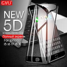 GVU 5D Защитное стекло для iphone 6 6s 7 8 Plus X 5 5S закаленное защитное стекло для iphone 8 7 6 6s Plus SE