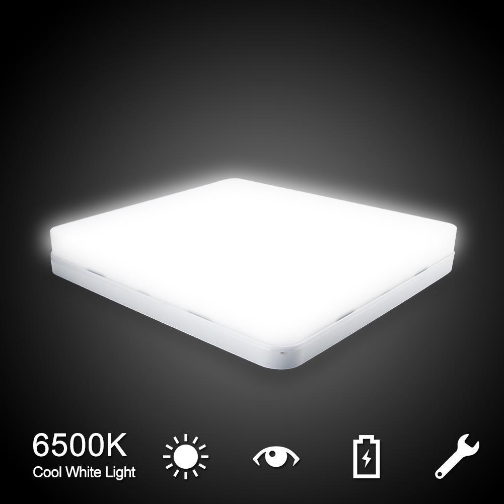 Ultra Bright 6500K White LED Flush Mount Ceiling Light
