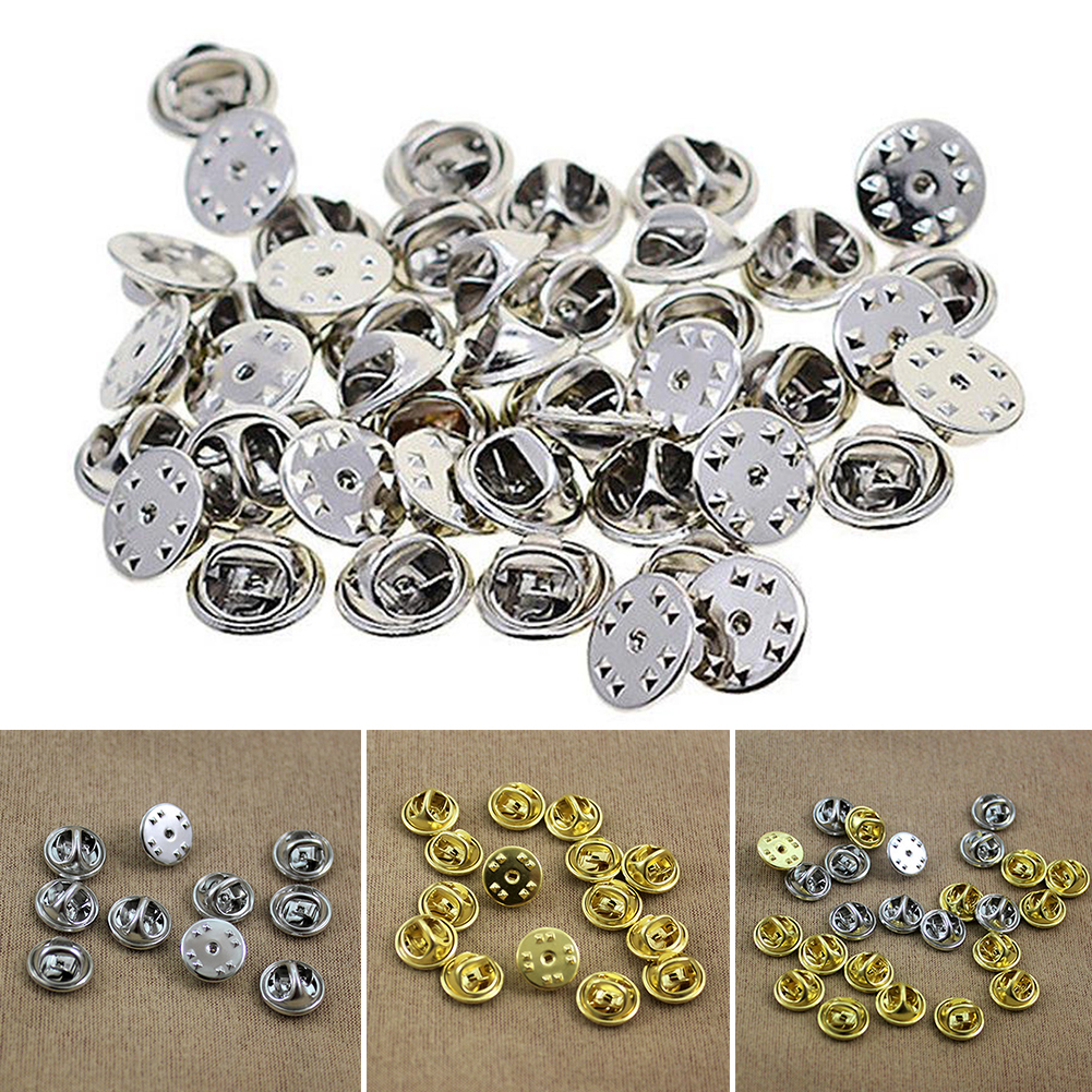 30Pcs DIY Accessories Lapel Squeeze Brooch Clasp Clutch Badge Jewelry Butterfly Holder Buckle Pin30Pcs DIY Accessories Lapel Squeeze Brooch Clasp Clutch Badge Jewelry Butterfly Holder Buckle Pin