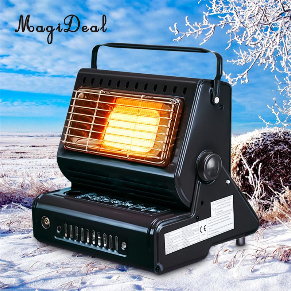 Portable Outdoor Gas Heater Adjustable BBQ Picnic Camping Tent Hiking Grill