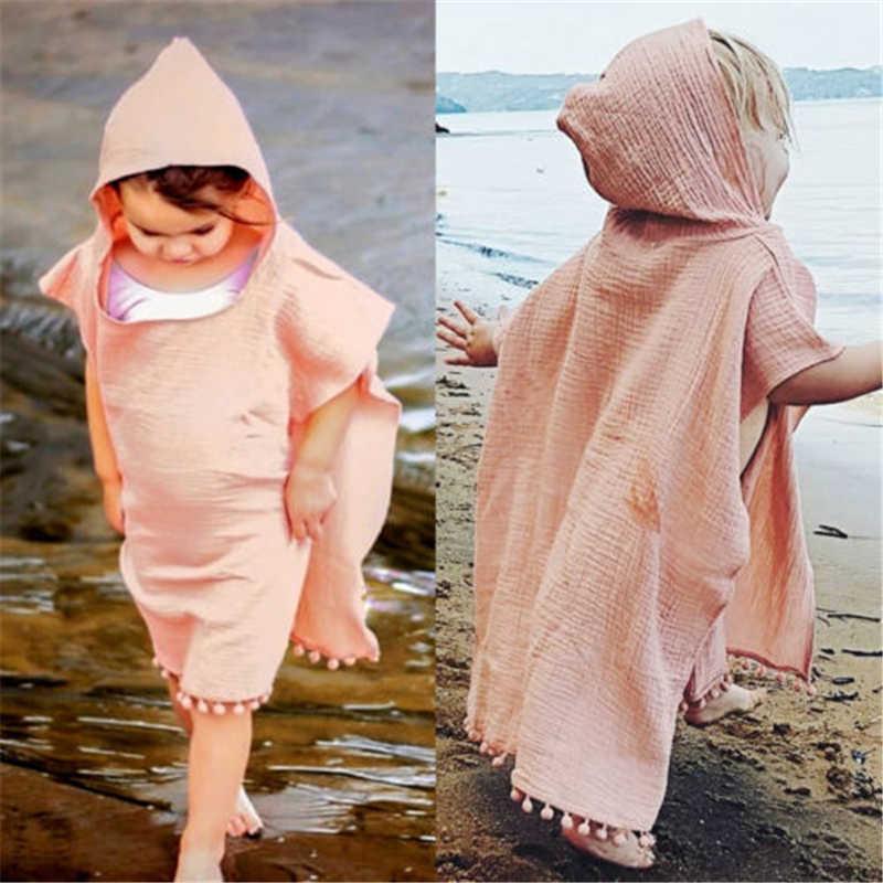 9012 Gloednieuwe Peuter Kinderen Meisje Lange Cape Jurk Hooded Kwastje Mantel Poncho Jumper Kleding Uitloper Geul